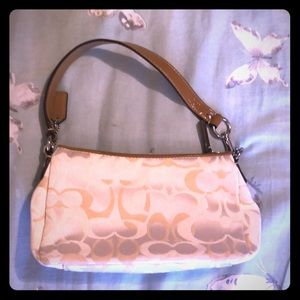 Coach Handbag Cream Color